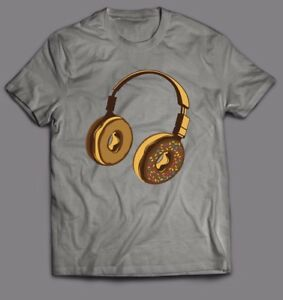 Pleasant Details About Homer Simpson Donut Headphones Gym Custom Oldskool Art Shirt Full Front Download Free Architecture Designs Scobabritishbridgeorg