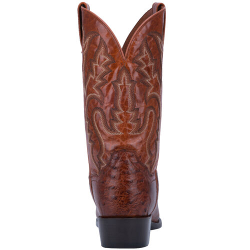 Dan Post Exotic Pugh Mens 13 Cognac Ostrich Senator Western Cowboy Boot