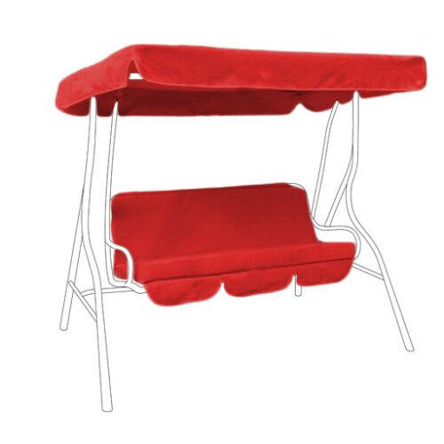 Red antiéclaboussures jardin 2 places hamac swing siège couvert arboré /& cushion set