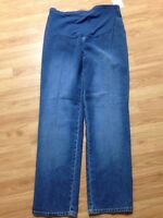 Womens Duo Maternity Blue Jeans Size M Medium (34x32)