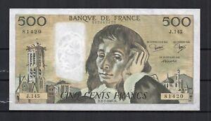 FRANCE-billet-de-500-Frs-PASCAL-du-02-07-1981-F-N-71-25-en-qualite-SPL