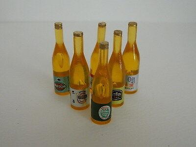 F12 escala 1//12th Casa De Muñecas Beber seis botellas de cerveza de plástico