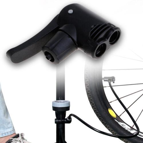 Bicycle Bike Cycle Pump Nozzle Dual Head Adapter Schrader//Presta Valve-Convertor
