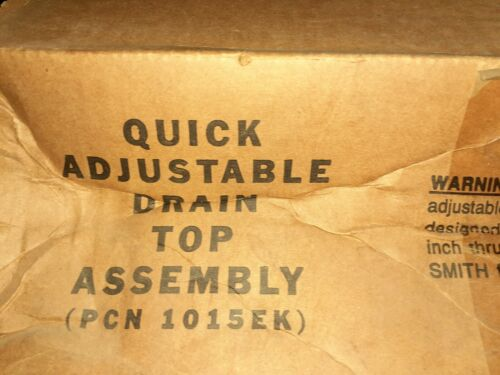 Smith Quick Adjustable Drain Top Assembly 1015EK Jay R