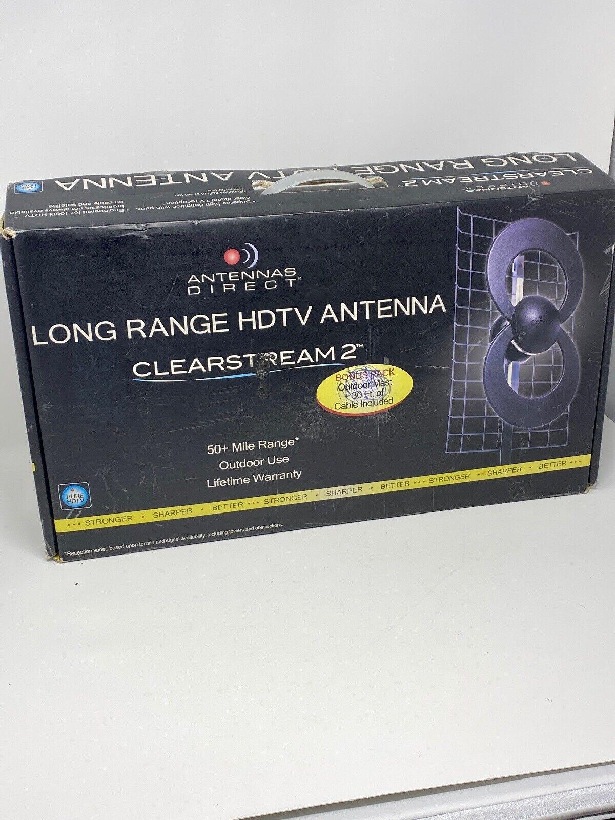 C2-CJM-30 circle_7_resale ANTENNAS DIRECT CLEARSTREAM 2 INDOOR/OUTDOOR UHF HDTV ANTENNA C2-CJM 50+ MILES