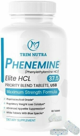 Phenemine Elite Best Adipex 37.5 P White/Blue Diet Pills