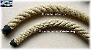 HANFSEIL 28 mm - 30 mm Handlaufseil, Absperrseil Treppenseil, Klettertau Ziehtau