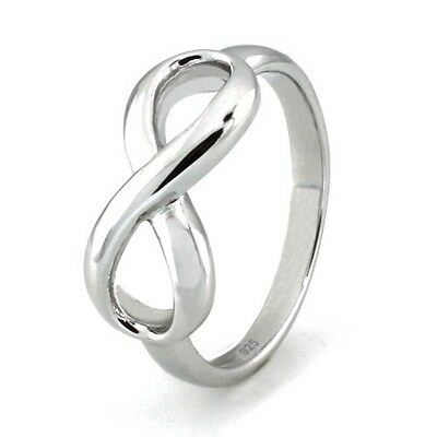 Sterling Silver 925 Infinity Engravable Wedding Band Promise Ring