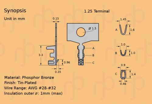 2,5 mm mini-lock Wire-to-Board Connecteur Câble Connecteur de carte Molex SIL