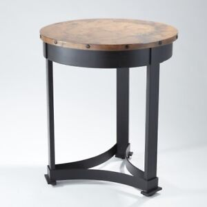 Image Is Loading Clic Copper Top Regency Style Accent Table Round