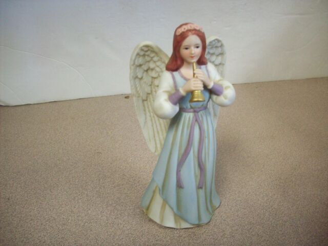 Home Interiors Gifts Angel Figurine Heavenly Duet Vintage 1422 Trumpet