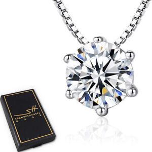 Zirkonia-Kette-Halskette-925-Sterling-Silber-Damen-Swarovski-Kristalle-ETUI