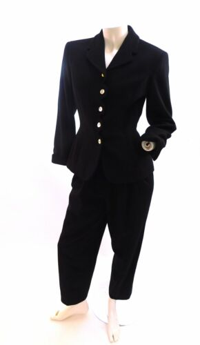 Vintage 1990s Perry Ellis wool pant suit