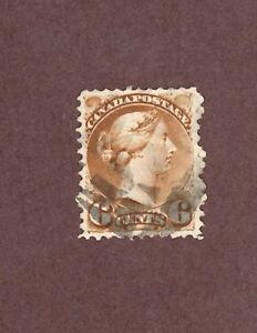 CANADA-Scott-39-6c-Victoria-Brown-1870-89-Used