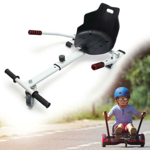 White Hoverkart For Hoverboard 2 Wheels Balance Electric Scooters UK Skateboard