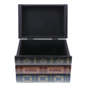 Antique-Book-Shaped-Jewelry-Display-Box-Home-Storage-Case-Table-Organizer-L