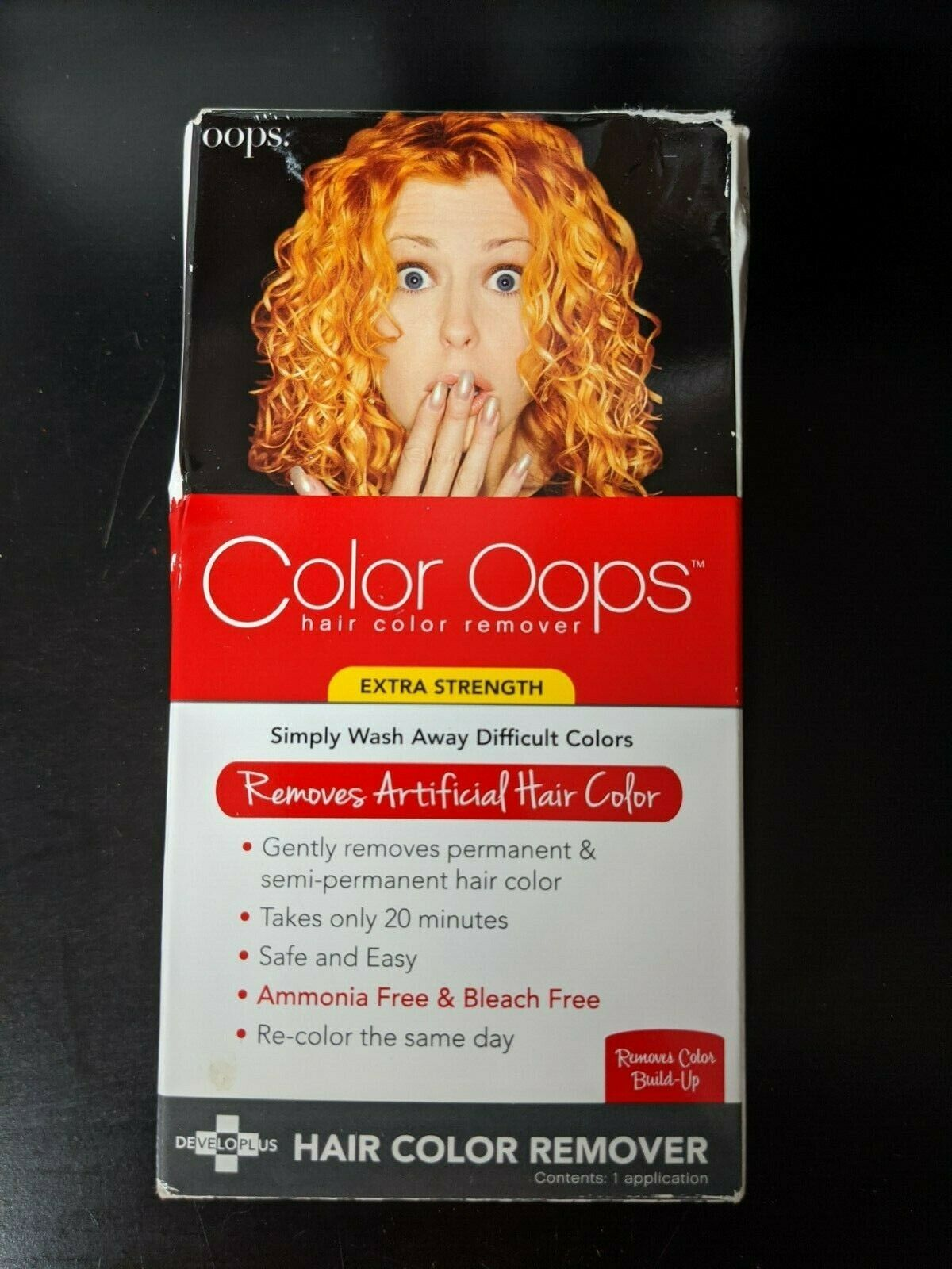 Developlus Color Oops Extra Strength Hair Color Remover For Sale Online Ebay Original is a better formulation for hair color which is not very dark, and which was used in the past 48 hours. developlus color oops extra strength hair color remover