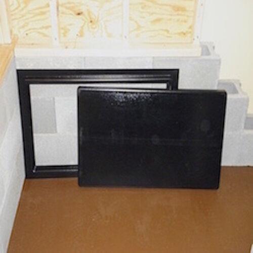 "Crawlspace Access Door Black 12/""x32/"" Encapsulation Foundation Sealed Pest"