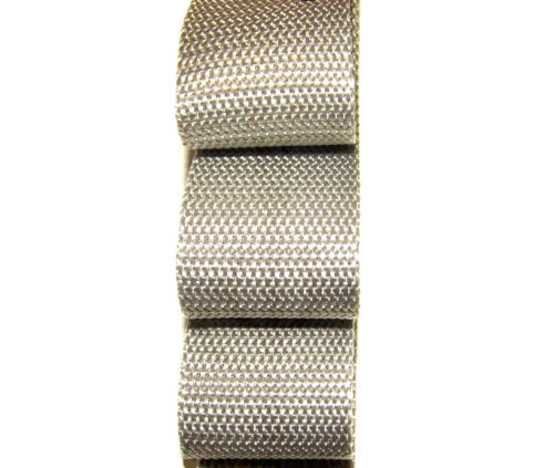 "1½/"" Inch Wide Grey Polypropylene Sold By-The-Yard 36/"" Uncut Lengths Webbing"