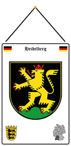 Heidelberg Germany Emblem Shield with Cord Tin Sign 20 X 30 CM FA1075-K