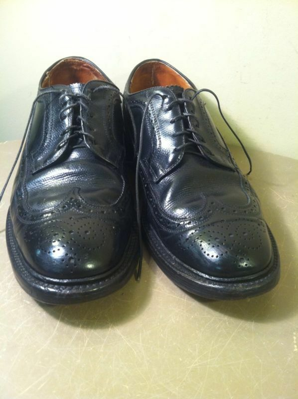 Rare Vintage American Gentleman Leather Wingtip Dress Oxford Shoes 8.5 D - USA Scarpe classiche da uomo