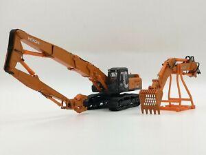 HITACHI-1-50-ZAXIS-350LC-K-Excavator-DEMOLITION-CRUSHER-Diecast-model