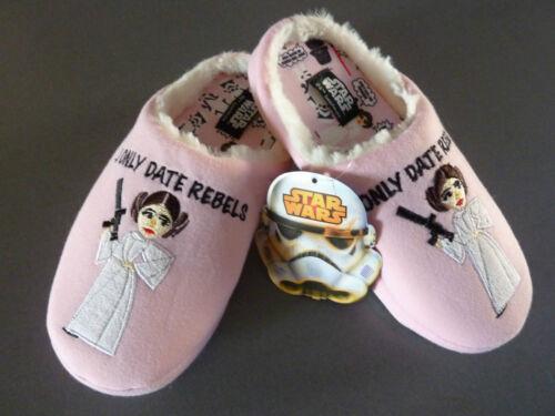 Star Wars Damen Hausschuhe Fleece Pantoffel Slipper Prinzessin Leia ABS 36-42