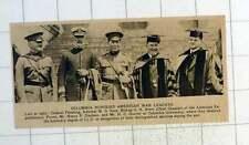 1920 Columbia University Honours Or Leaders Pershing Sims Brent