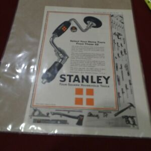 Stanley Four Square Household Tools Ad May 23, 1925 Literary Digest Brace Ad