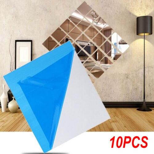 Schlafzimmer Aufkleber für Wandfliesen DIY Dekals Quadrat Aufkleber für Spiegel