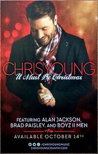 Chris Young Christmas.Chris Young It Must Be Christmas 2016 Ltd Ed Rare Poster