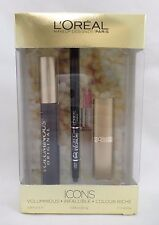 Loreal Icons Gift Set 3 Piece Voluminous Infallible Colour Riche New Exp 06/18 +
