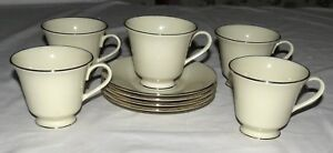 Lenox-Maywood-FIVE-Cups-amp-FOUR-Saucers