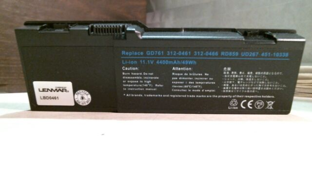 Lenmar LBD0461 Replacement Battery for Dell Inspiron, FREE SHIPPING