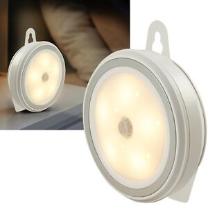 led nachtlicht mit bewegungsmelder batterbetrieb sicherheitsleuchte leuchte ebay. Black Bedroom Furniture Sets. Home Design Ideas