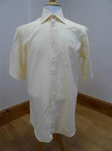 Daniel-Hechter-CORTO-sleeve-Camicia-giallo-taglia-39-487