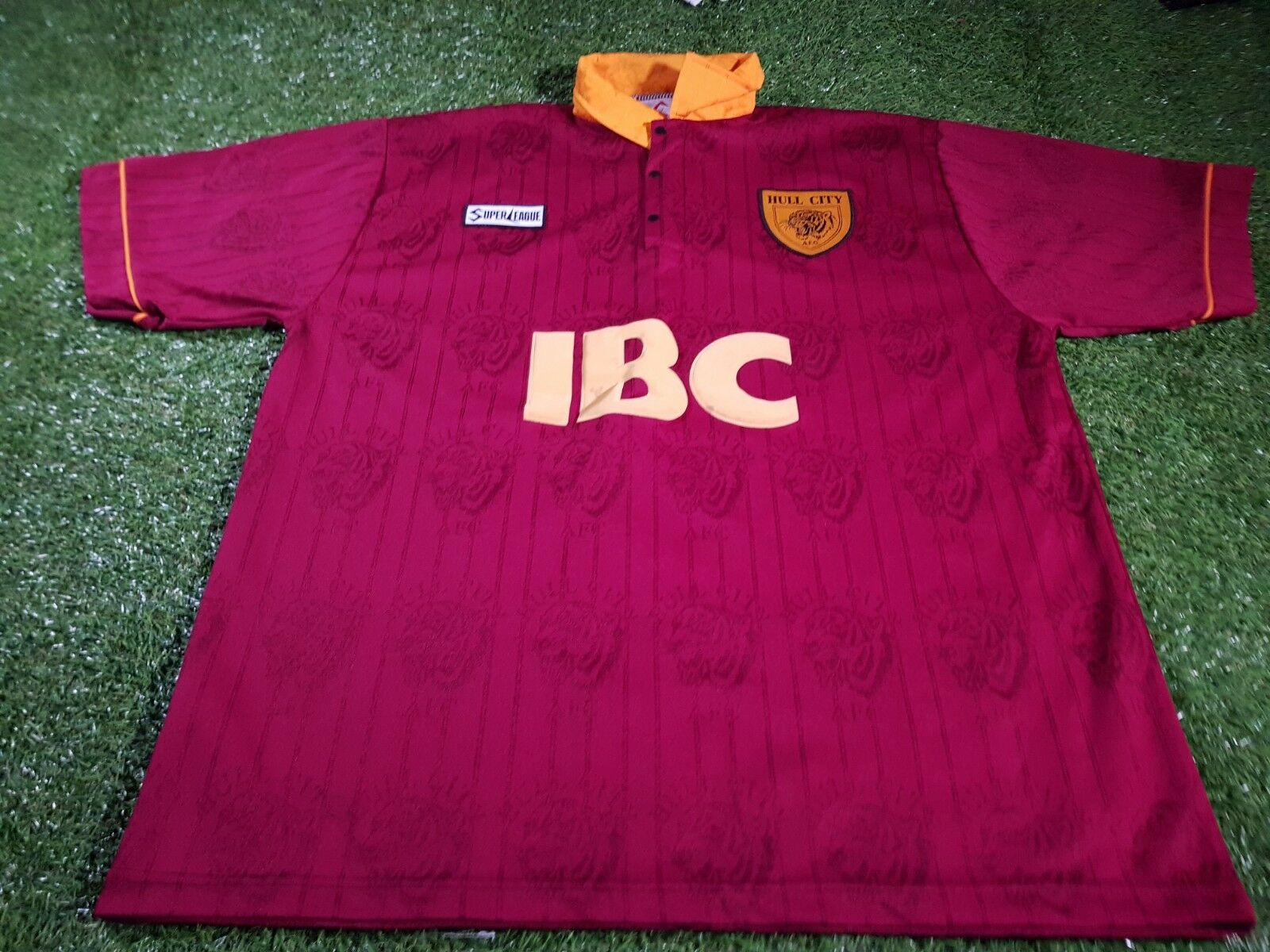 Hull City FC Inghilterra Calcio Extra Large Mans SUPER LEAGUE VINTAGE 1995 JERSEY