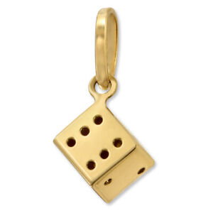 14K-Yellow-Gold-3D-Dice-Pendant-Lucky-Dice-Charm