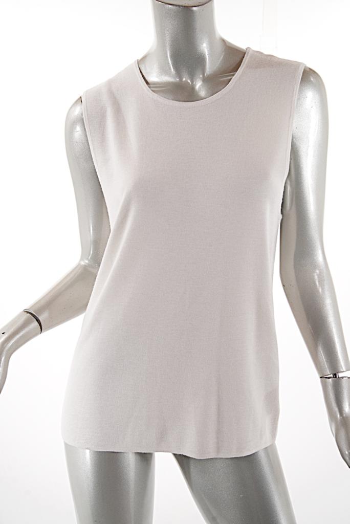 Ralph Lauren Natural Weiß Cashmere Blend Tank Sweater  Sz XL   475  NWT