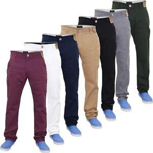 Hombres-Chino-Vaqueros-Regular-Fit-Algodon-Elastico-ricos-Sarga-Pantalones-Pantalones-Cintura-32-40