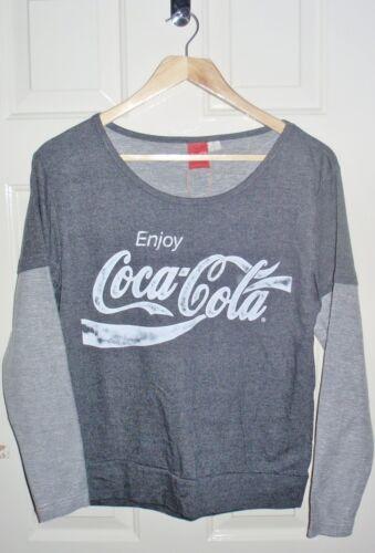 BNWT Primark ladies ENJOY COCA COLA grey lounge pyjama top