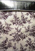 Laura Ashley Cassandra Black Floral 13 X 72 Fabric Table Runner