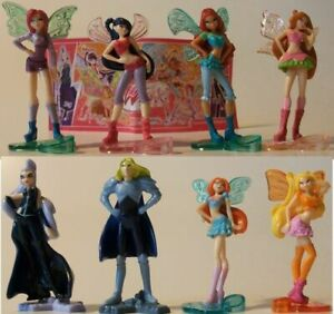 WINX CLUB COMPLETE SET OF 8 WITH ALL PAPERS KINDER SURPRISE 2013 FERRERO