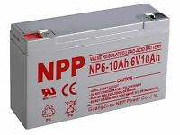 Npp 6v 10ah 12ah Rechargeable Sla Battery Replaces Power Sonic Ps-6100