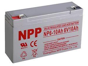 1 Pcs 6V 3.3AH rechargeable Sealed Lead Acid SLA AGM battery