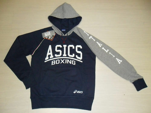 10038 SIZE 3XL ASICS ITALY BOXING BOXING FPI HOODED SWEATSHIRT HOODY ITALY TOP