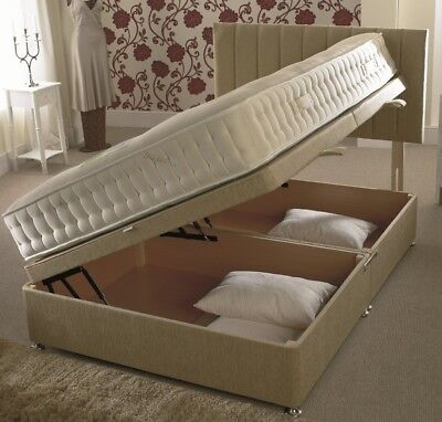 345fbcaa70dd Details about Divan Ottoman Side Lift Storage Bed Single 4'6 Double 5ft  King Size AMAZING