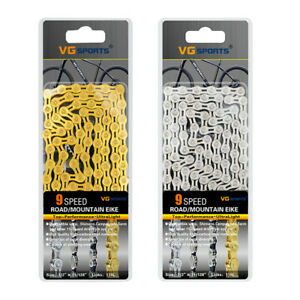VG-Sports-Steel-Bicycle-Chain-116L-9-Speed-Mountain-Road-Bike-Half-Hollow-Chain