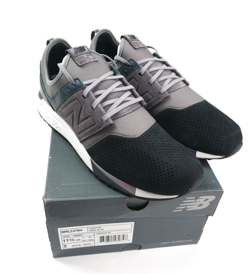 New luxe balance 247 luxe New suede in grey / navy mrl247n4 Uomo size 11.5 999d8c