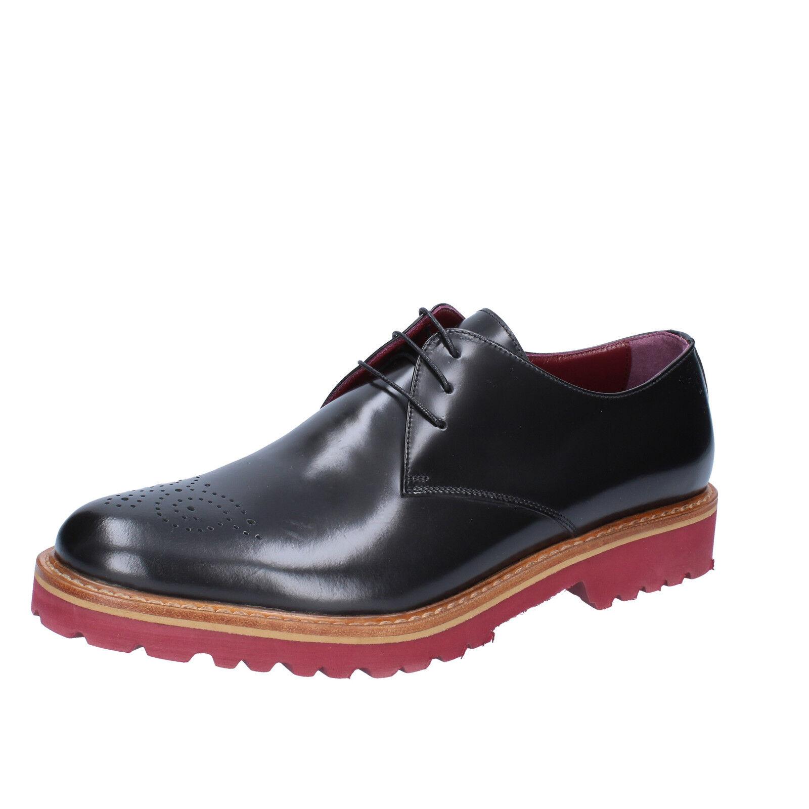 men's shoes DI MELLA 12 () elegant black leather BZ06-E